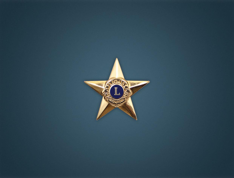 Lions Star Lapel Pin