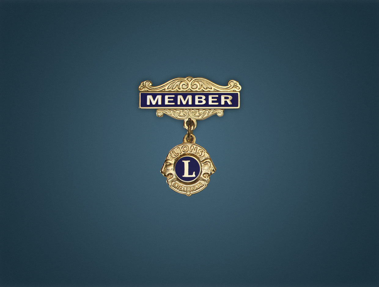 Lions Member Pin With HG. Bar