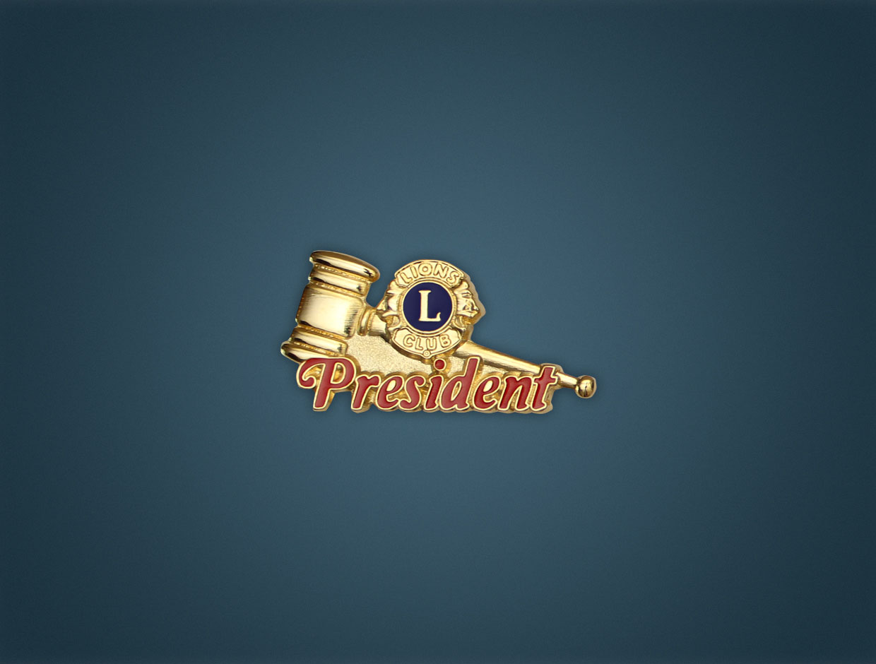 Lions Deluxe Lapel Pin - Club President
