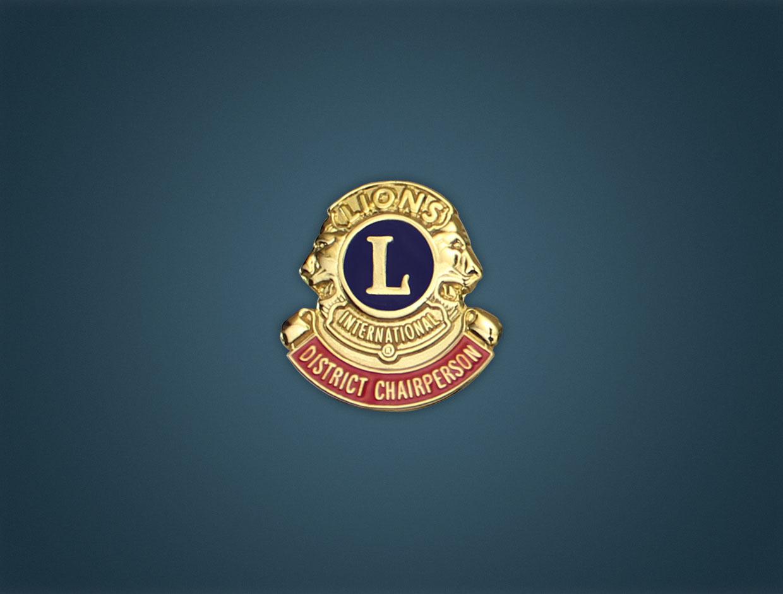 Lions District Chairman Lapel Pin