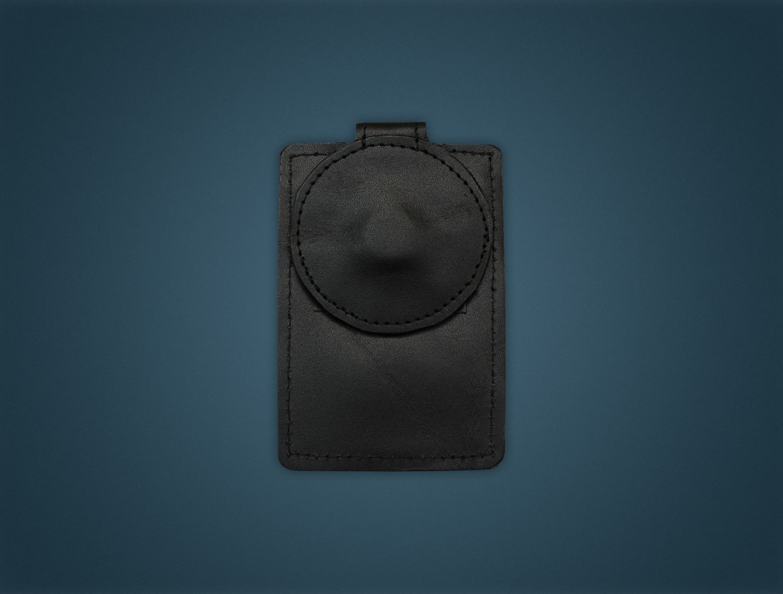 Leather Magnetic Pocket Badge