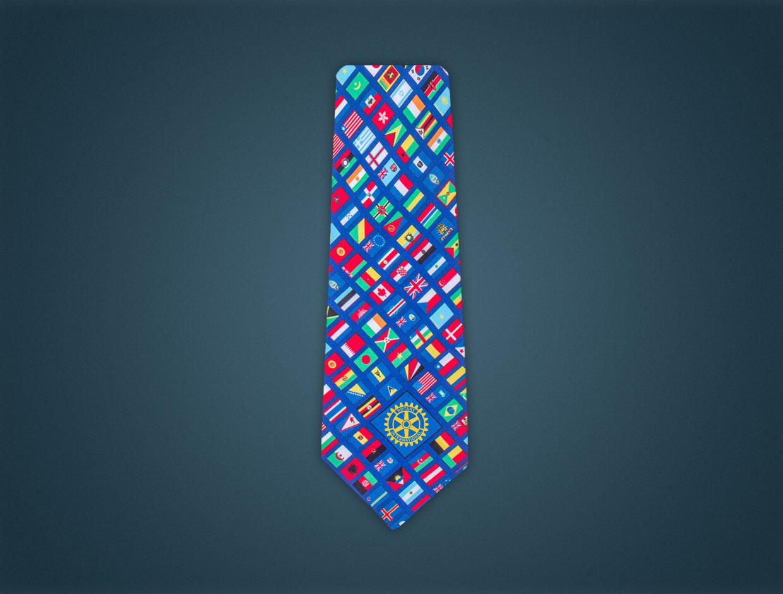Rotary Global Flag Tie - SILK