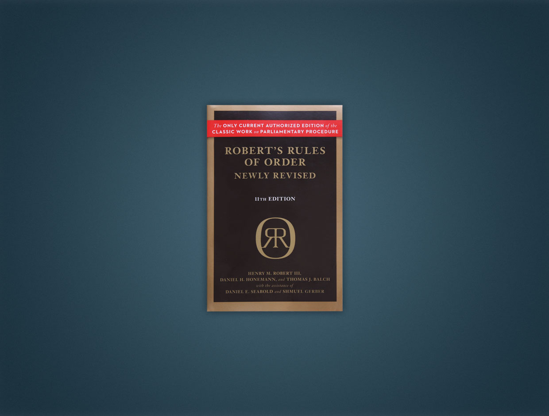 Robert Rules Of Order Book