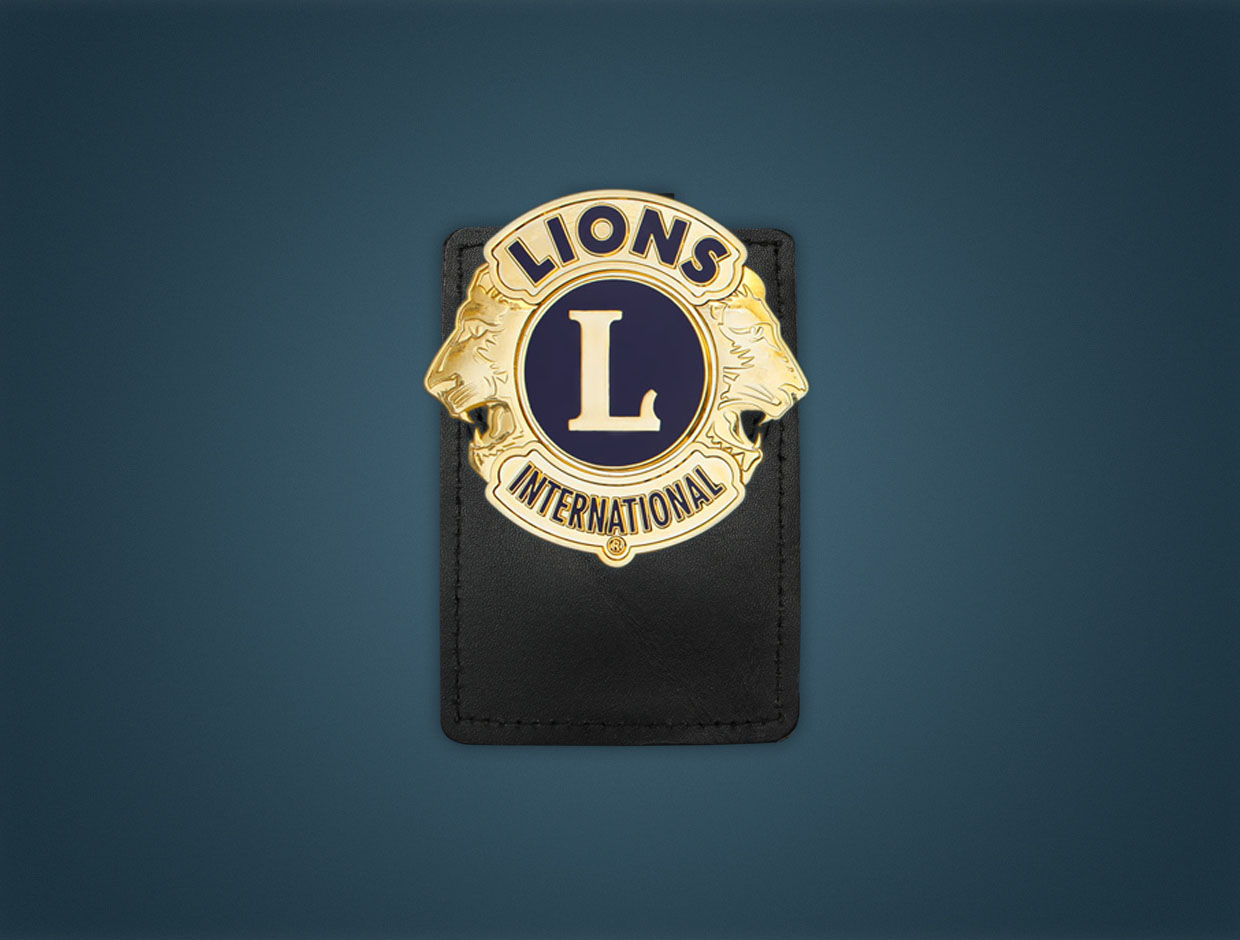 Lions Deluxe Magnetic Pocket Badge