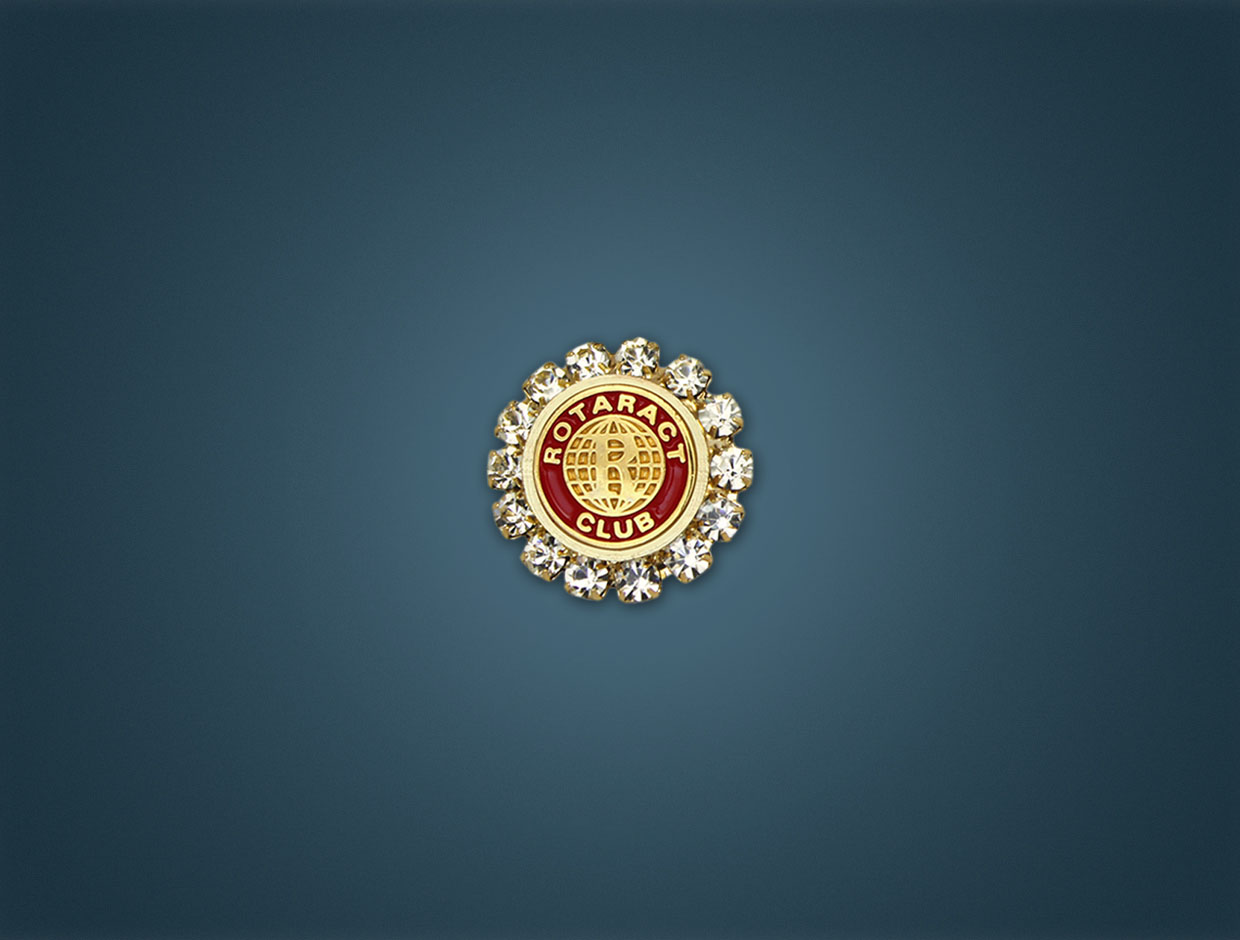 Rotaract Stone Member Pin