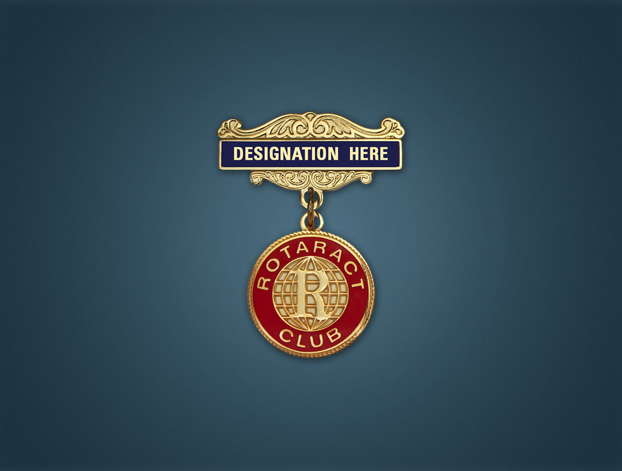 Rotaract Designations Lapel Pins