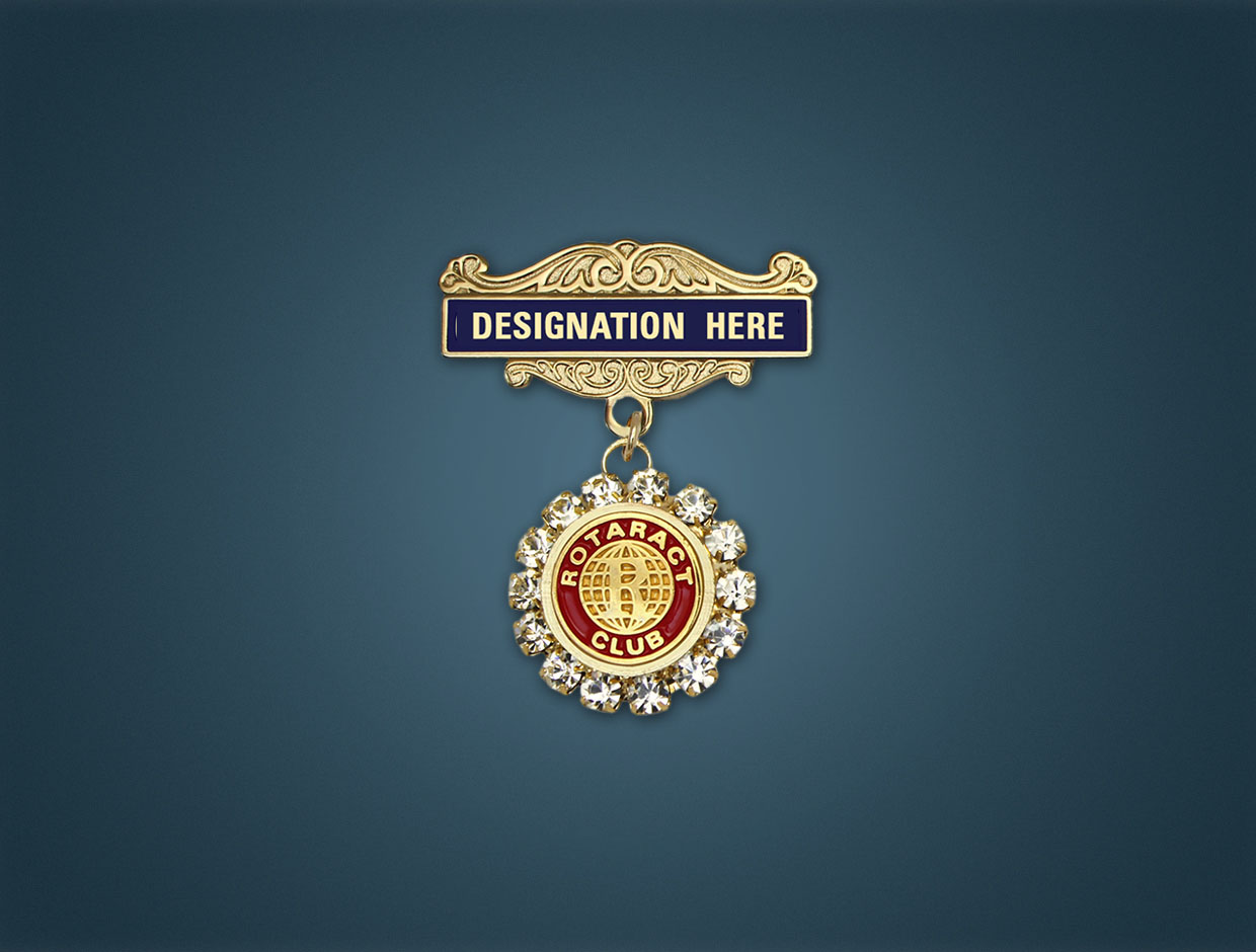 Rotaract Stone Designations Lapel Pins