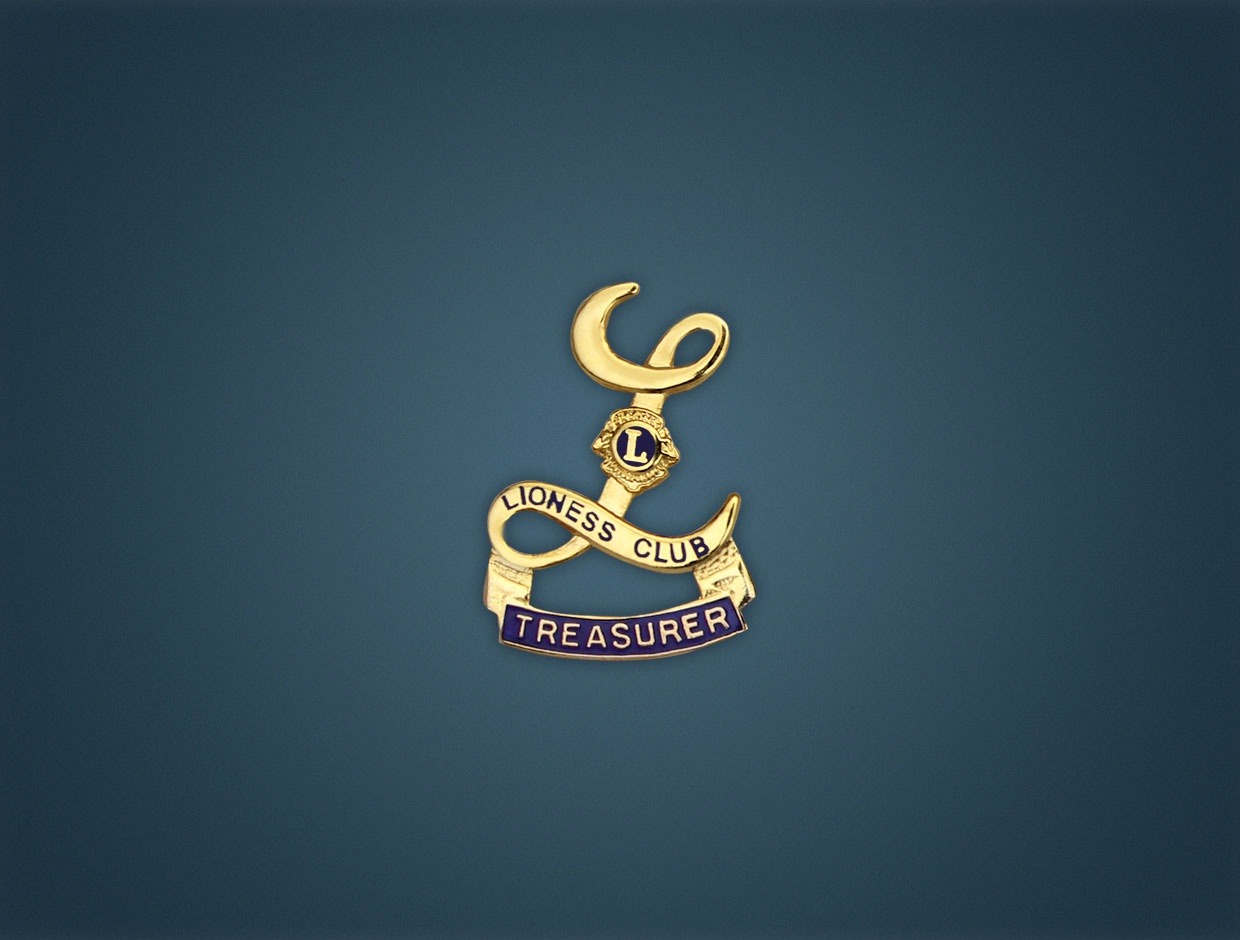 Lioness Treasurer Lapel Pin