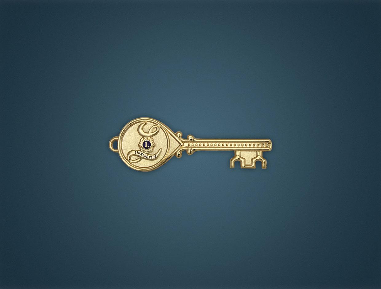 Lioness Key Lapel Pin
