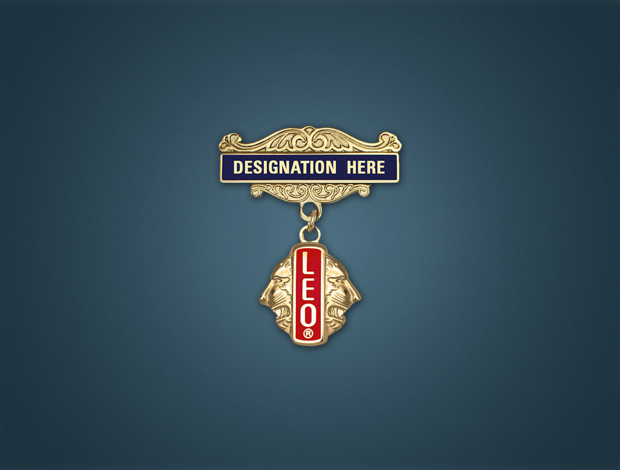 Leo Designations Lapel Pins