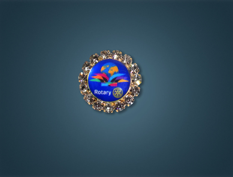 Rotary 2015-16 Theme Stone Lapel Pin