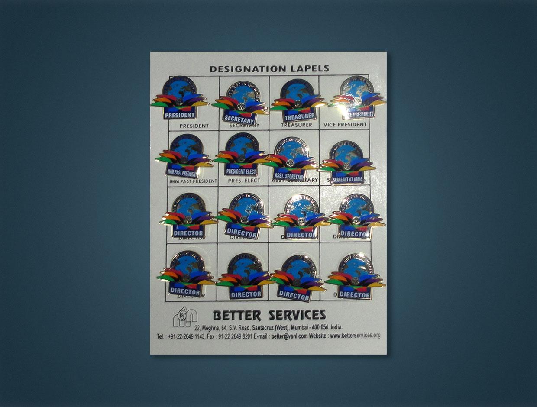 Rotary Theme Designation Lapels (Set of 16)