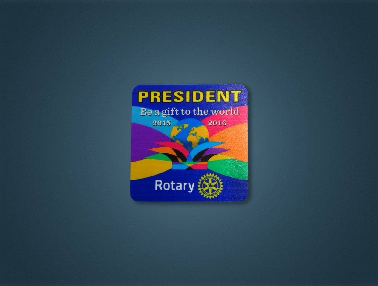 Rotary 2015-16 Theme Magnetic Pocket Badge (Designations Available)