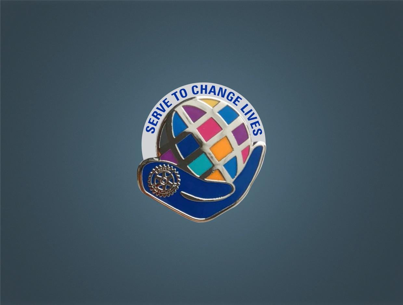 Rotary Theme 2021-22 Silver Member Pin