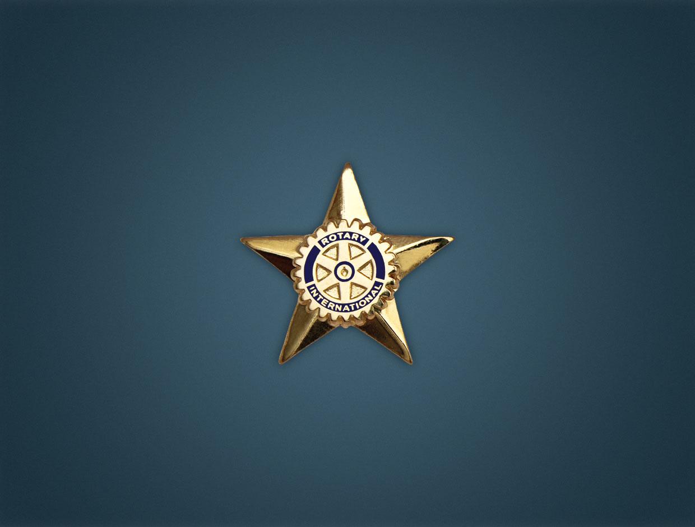 Rotary Star Lapel Pin