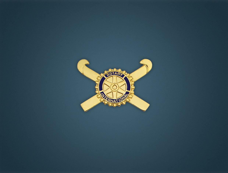 Rotary Stick Lapel Pin