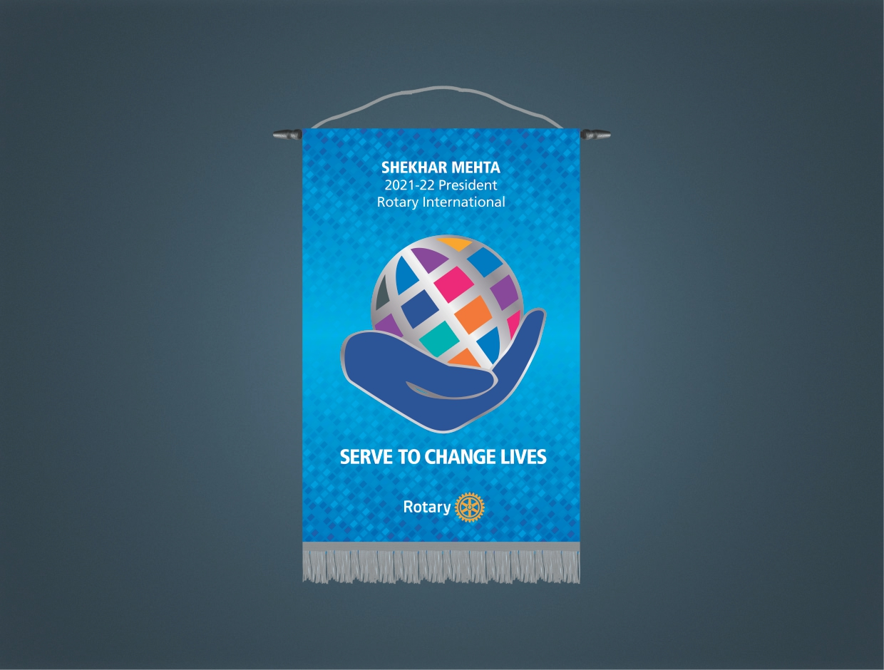 Rotary Theme 2021-22 Stage Banner