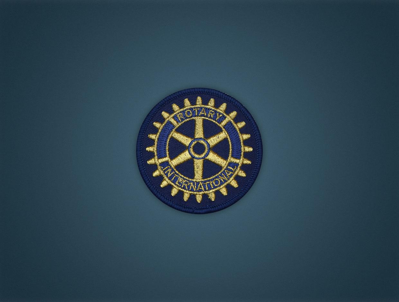 Rotary Emblem - Iron On Badge