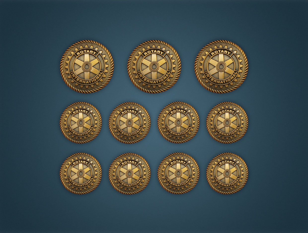 Rotary Coat/Jacket Buttons
