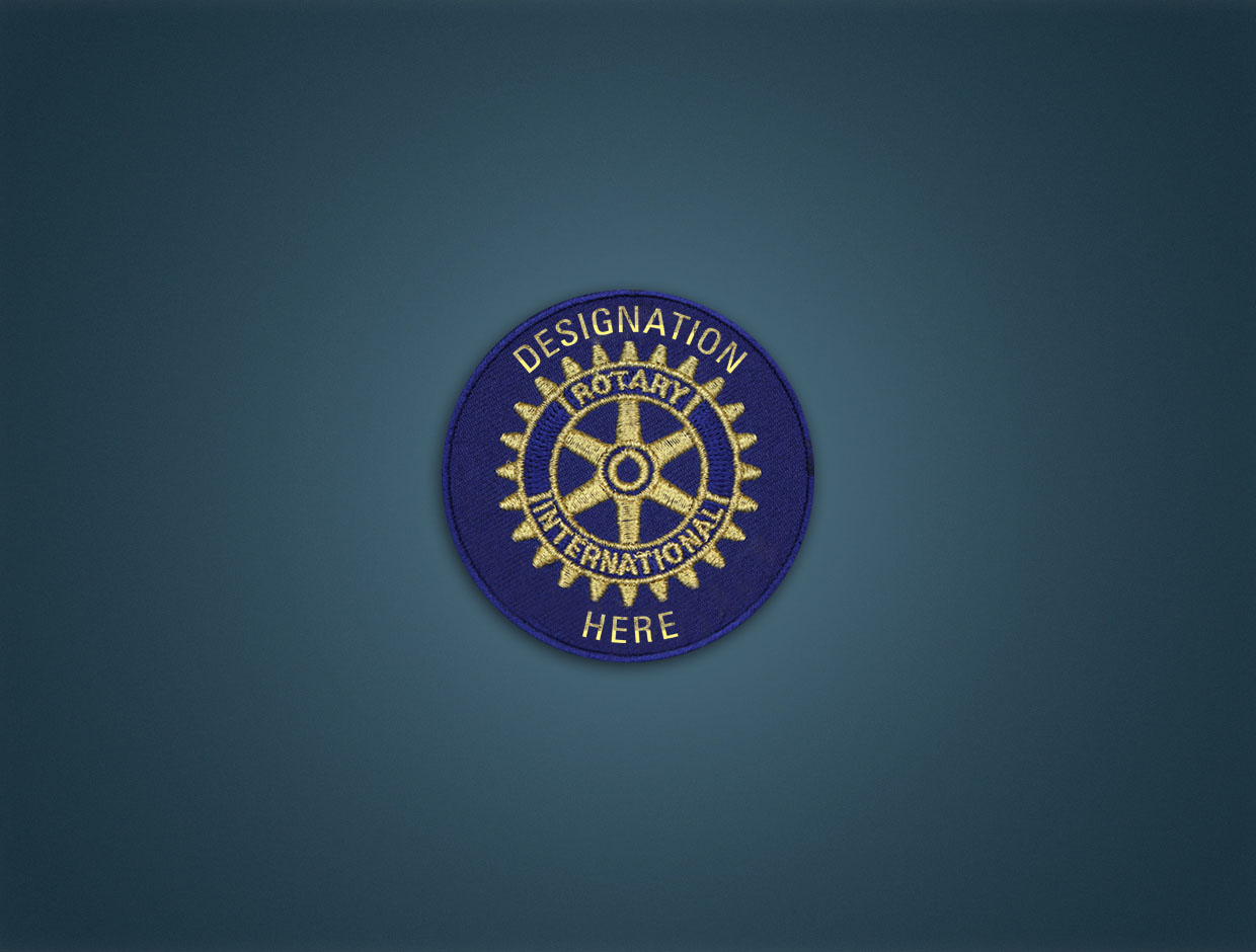 Rotary Club Designation - Iron On Badge