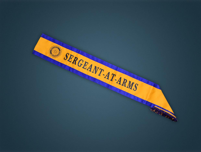 Rotary Sergeant Sash