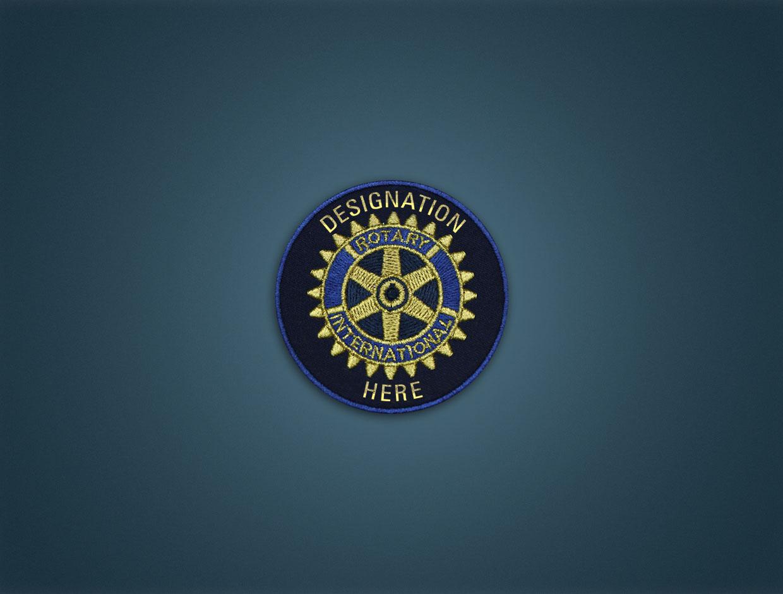 Rotary District Designation - Iron On Badge